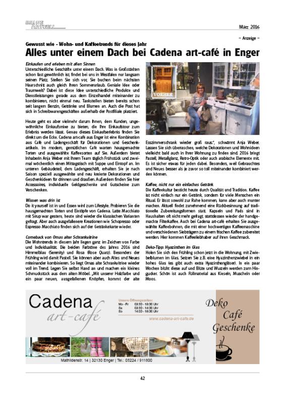Alles unter einem Dach bei Cadena art-café - Presse