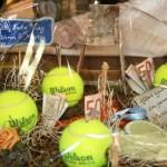 Das Hobby Tennis zum Thema gemacht