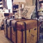 Nachher: Koffer aufgefrischt - Deckel in Lederoptik